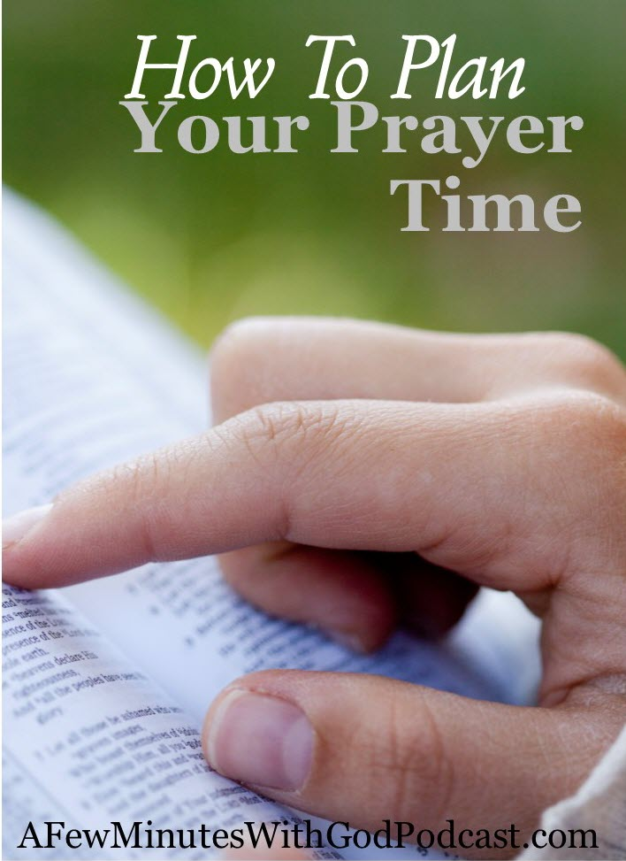 how to plan your prayer time