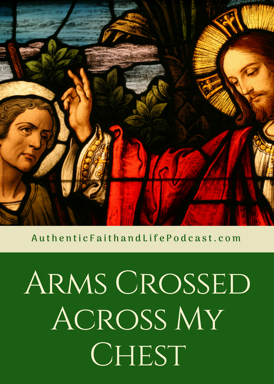 What does it mean when you see someone with crossed arms across their chest in the line to receive the Eucharist?