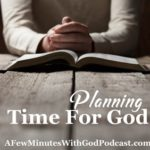 planning time for God