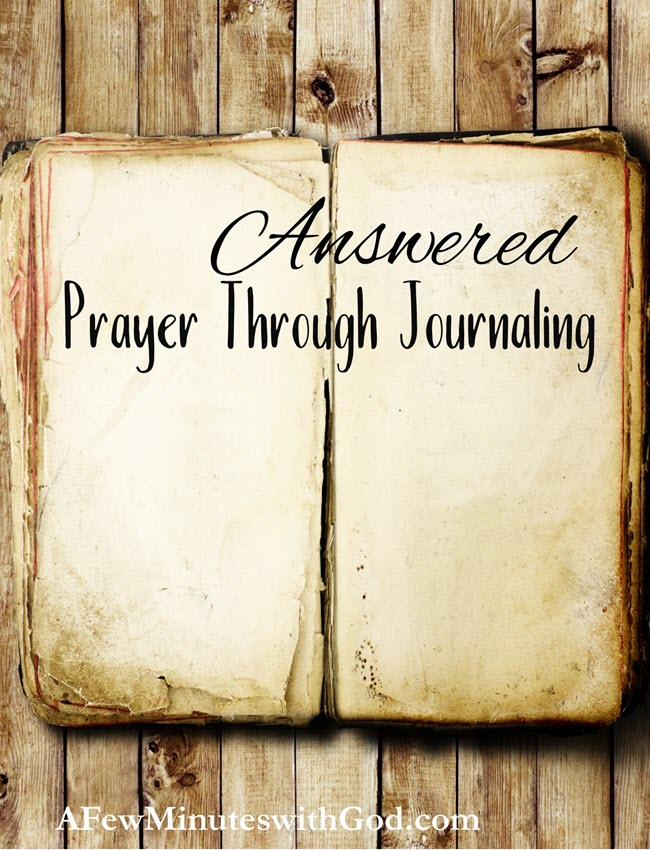answered prayer through journaling