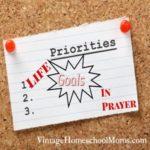 Life Goals in Prayer