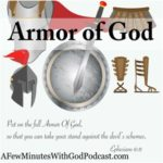Putting on the armor of God we can fight anything because the battle is not ours.