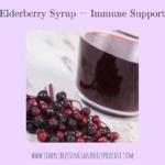 Elderberry Syrup = Immune Support