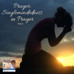 Join Lucia and her special guest, her pastor, Mrs. Sonya Collins. Mrs. Collins shares a prayer secret from her 20 plus years of ministry experience, focusing on singlemindedness in your prayer life. #Podcast #Christian