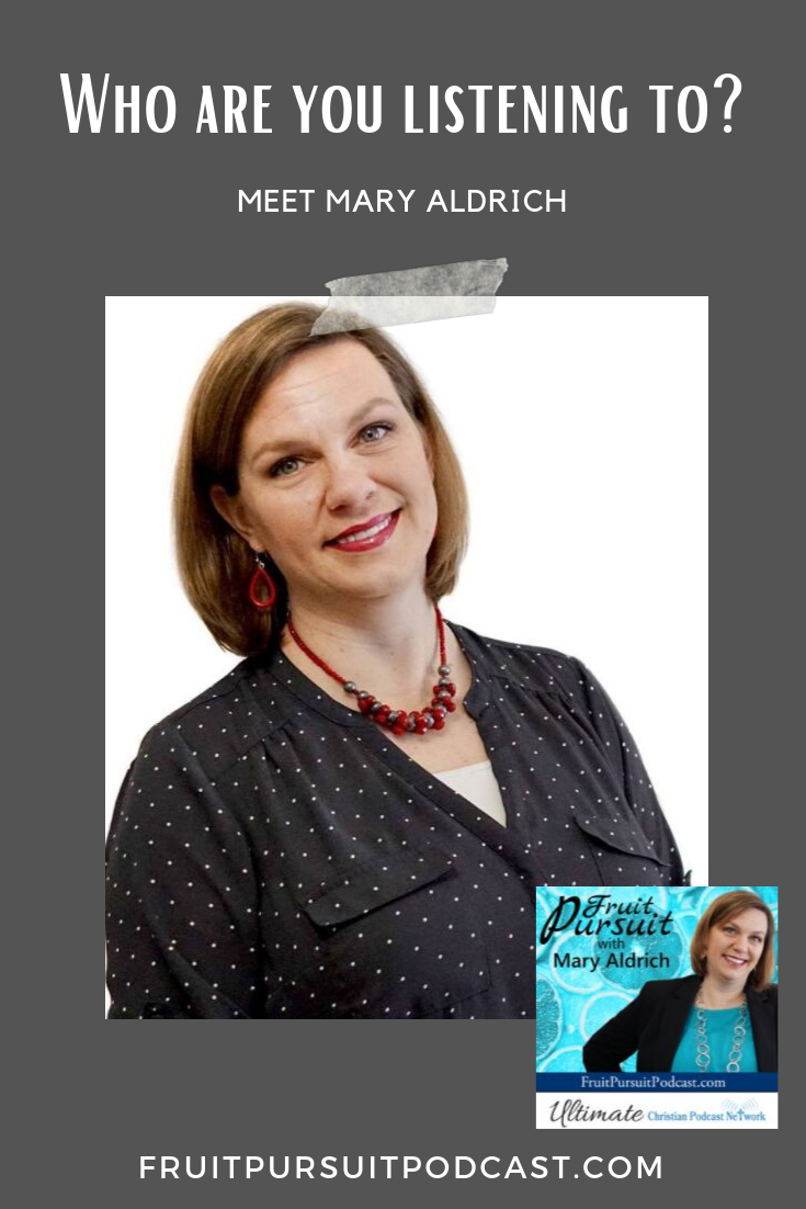 Meet Mary Aldrich, the host of Fruit Pursuit Podcast! #podcast #christianity #christianpodcast