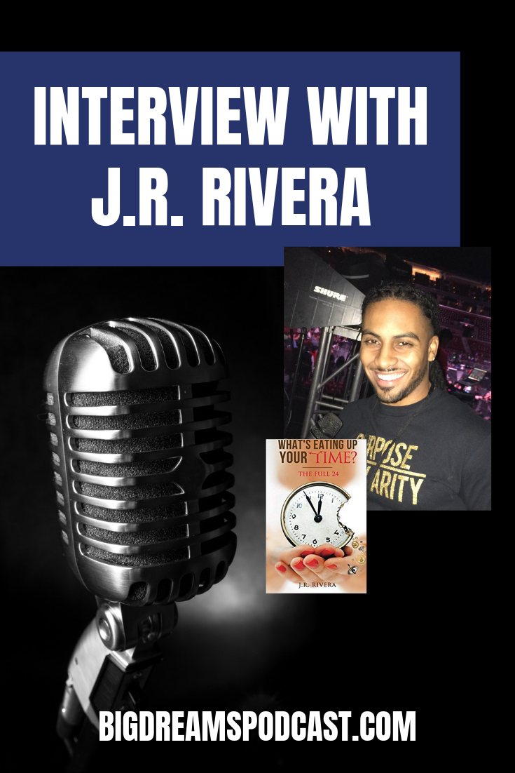 "Today on Big Dreams Sports Tv, we sit and talk to J.R. Rivera, Teacher and author of ""What is eating up your time"" and author of 3 kid's literary books."