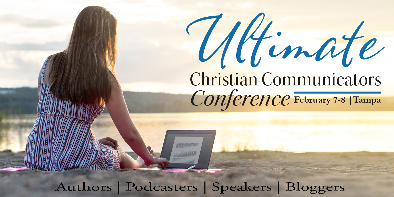 A Banner with the Ultimate Christian Communicators Conference Details and dates