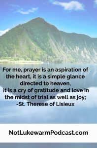 St. Therese on prayer