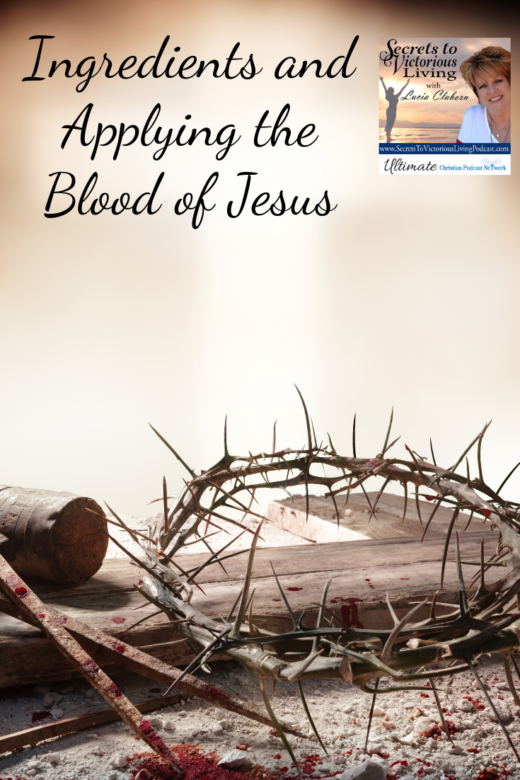 Applying the blood of Jesus.