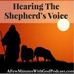 Hearing The Shepherd's Voice | Have you struggled in your relations with God? Is hearing the Shepherd's Voice too faint? Sometimes in our humility, we believe we are too sinful to ask to be in the presence of the Almighty. In this episode, we explore that the voice of God is a whisper away. #podcast #christianpodcast #hearingGod'svoice #hearingGod #goodshepherd