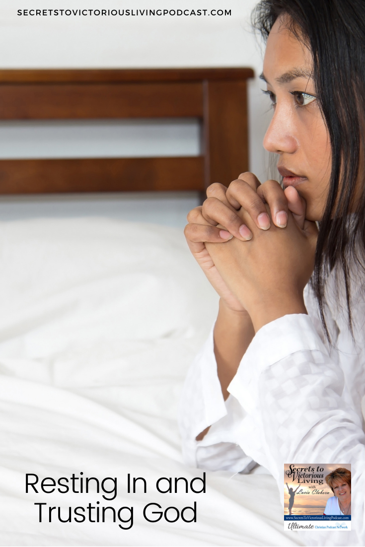 """Have you ever gone to God and said, """"I want it right now, God!"""" Join Lucia in today's show as she talks about Resting In and Trusting God's Timing."""