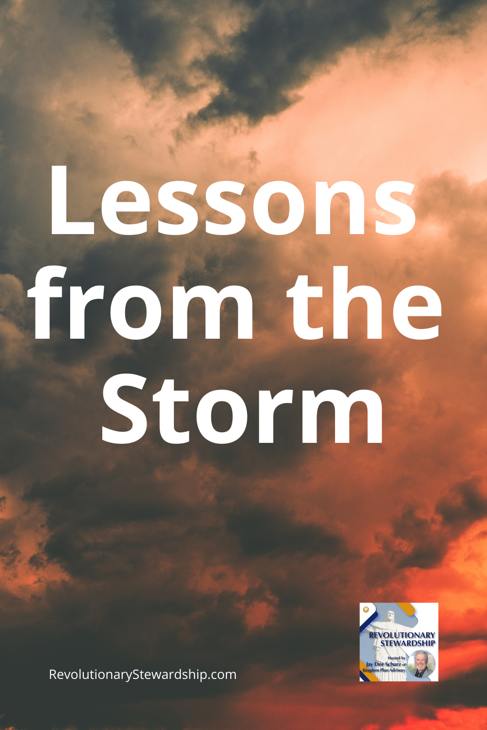 Every storm that we survive in our lives is a learning opportunity. How do we react to a similar storm in the future?